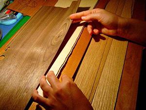 手工烫贴木皮