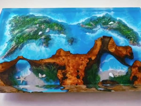 家具厂河流桌树脂胶水应用案例1
